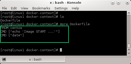 Create a Docker image using a Dockerfile: Dockerfile content