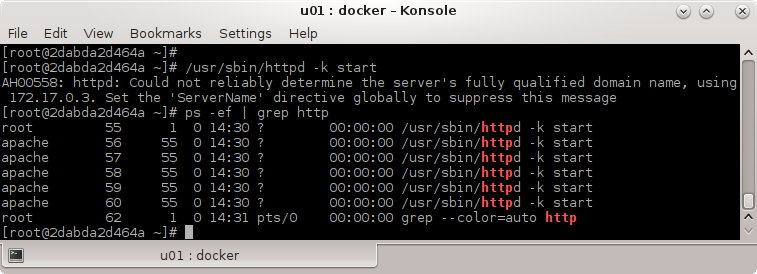 How you can install HTTP (Apache) Server on a Docker Container: start http server
