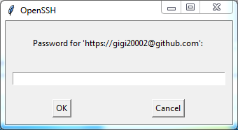 Push local Git repository to a remote Git repository / GitHub: password