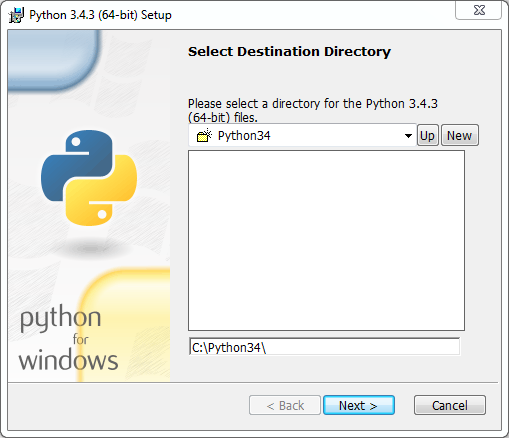 Python installation on Windows (v. 3.4.3): location