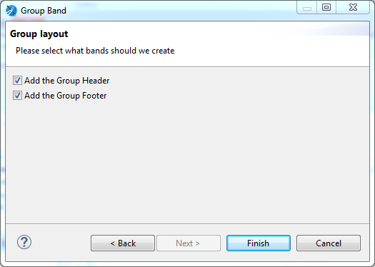 Create Groups using Jaspersoft Studio for JasperReports : header and footer for group