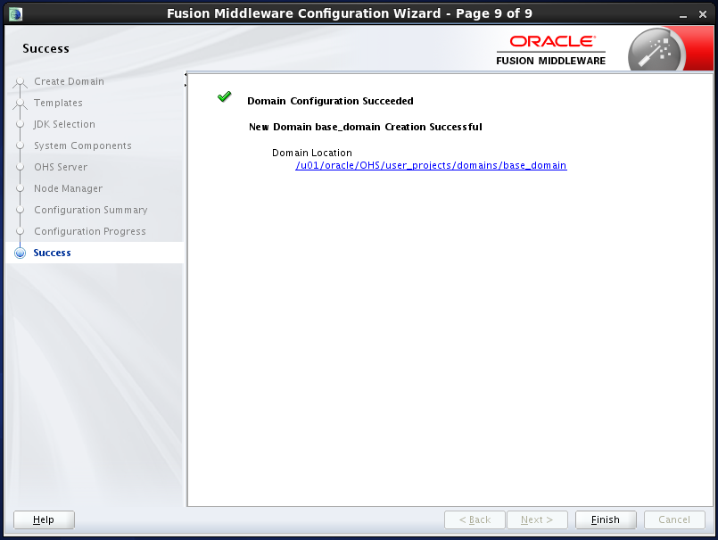 configure Oracle HTTP Server (OHS) 12.1.2 : configuration succeded