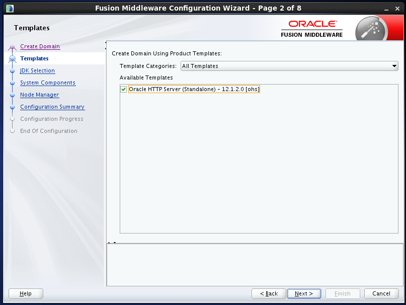 configure Oracle HTTP Server (OHS) 12.1.2 : templates