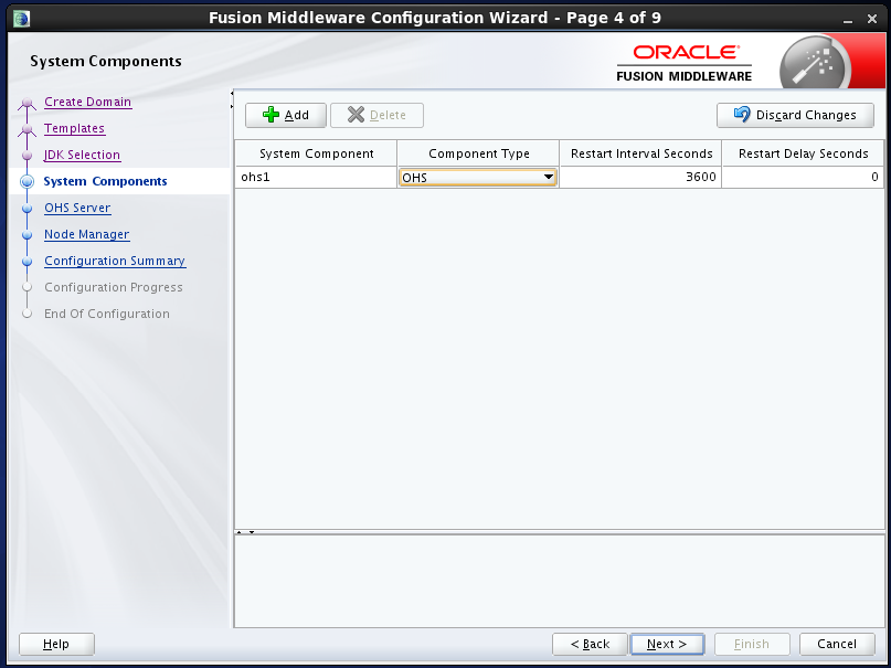 configure Oracle HTTP Server (OHS) 12.1.2 : system components