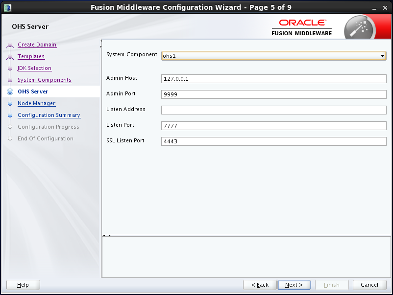 configure Oracle HTTP Server (OHS) 12.1.2 : configure ohs server