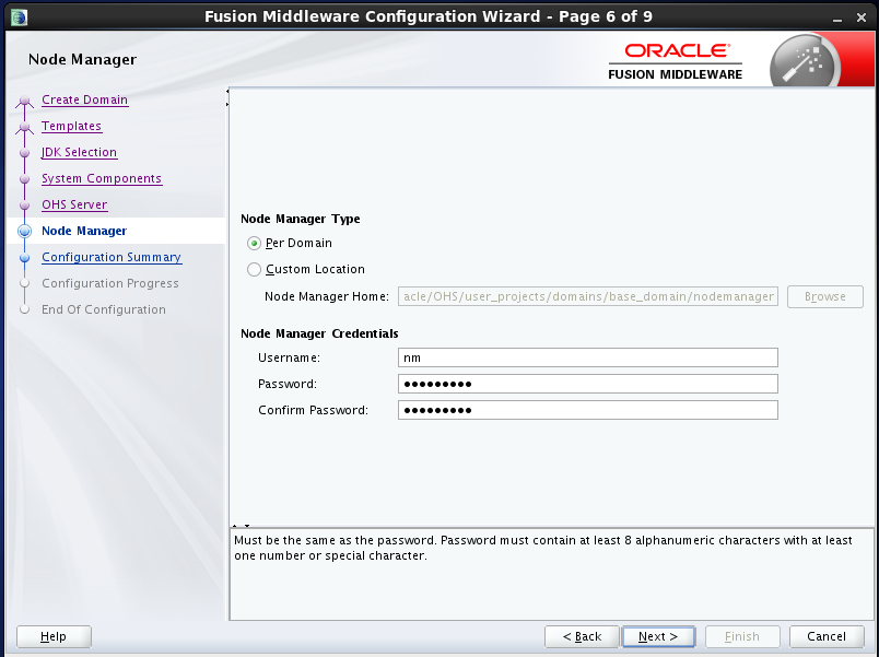 configure Oracle HTTP Server (OHS) 12.1.2 : configure node manager