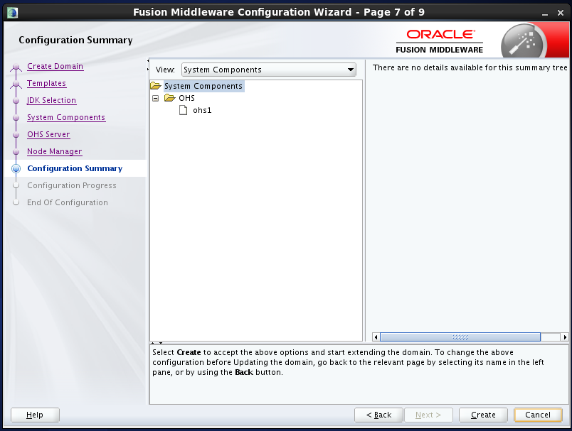 configure Oracle HTTP Server (OHS) 12.1.2 : configuration summary