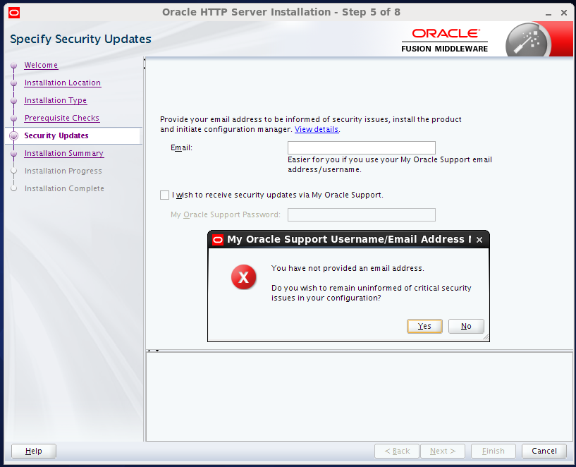install Oracle HTTP Server (OHS) 12.1.2 : confirmation