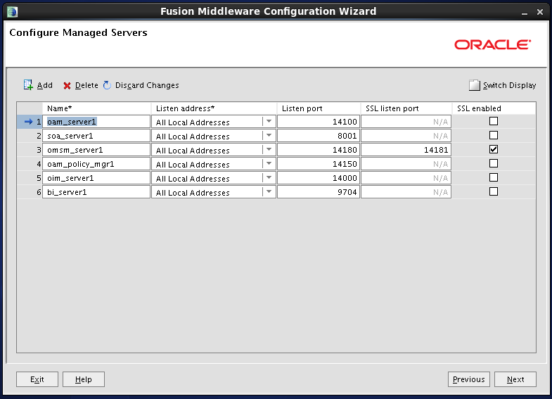 Configure Oracle Identity and Access Manager: configure managed servers