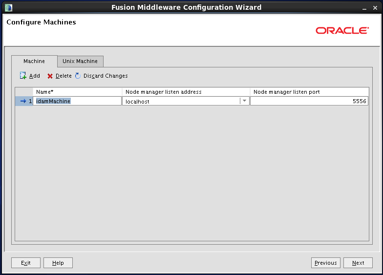 Configure Oracle Identity and Access Manager: configure machines