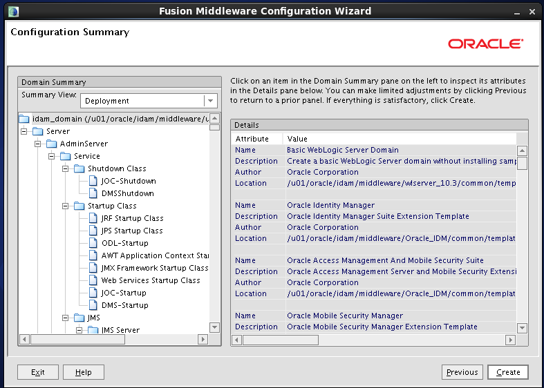 Configure Oracle Identity and Access Manager: summary