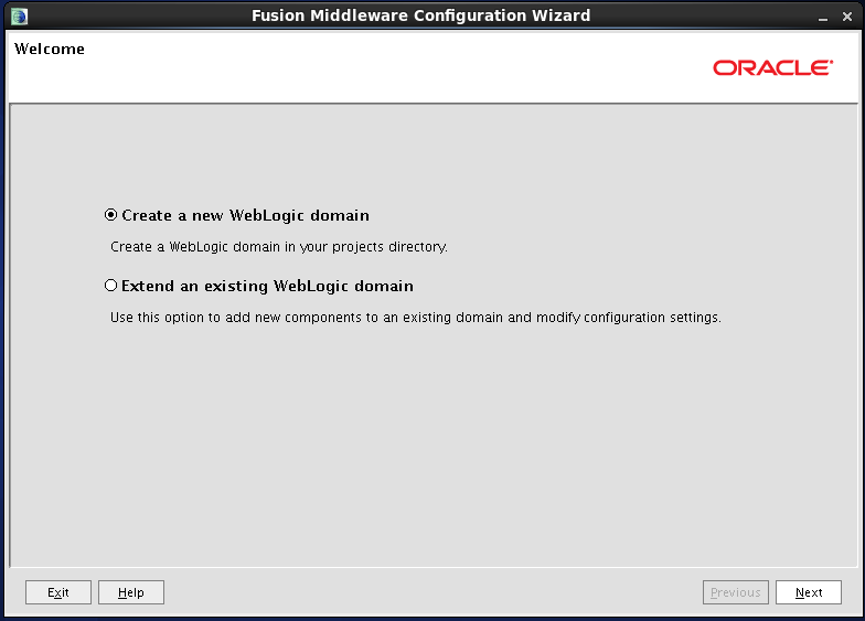Configure Oracle Identity and Access Manager: Welcome page