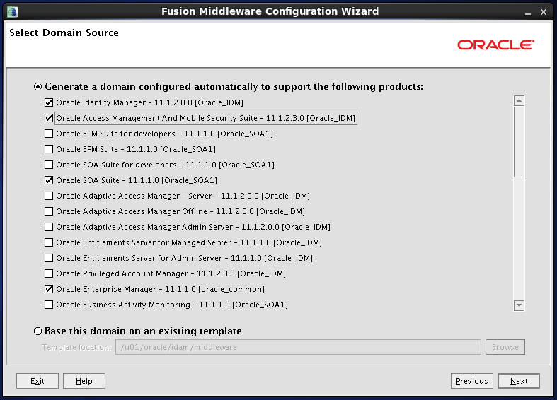 Configure Oracle Identity and Access Manager:Supporting products 1
