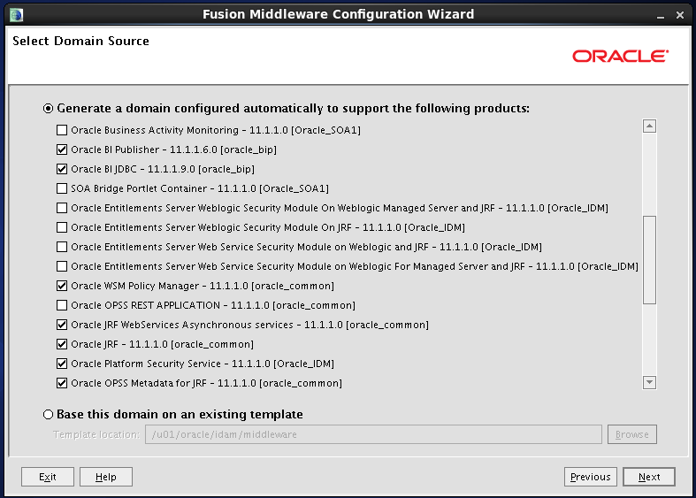 Configure Oracle Identity and Access Manager: Supporting products 2