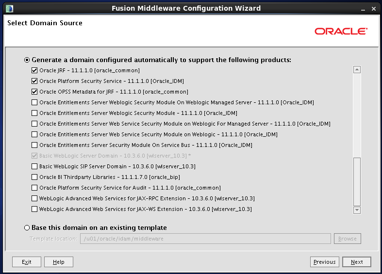 Configure Oracle Identity and Access Manager: Supporting products 3