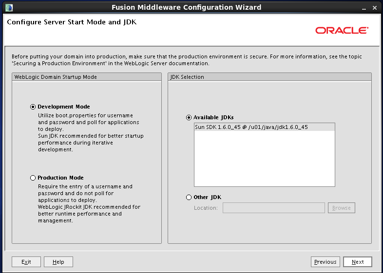 Configure Oracle Identity and Access Manager: JDK Location