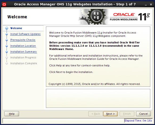 oam 11g webgate agent installation: welcome