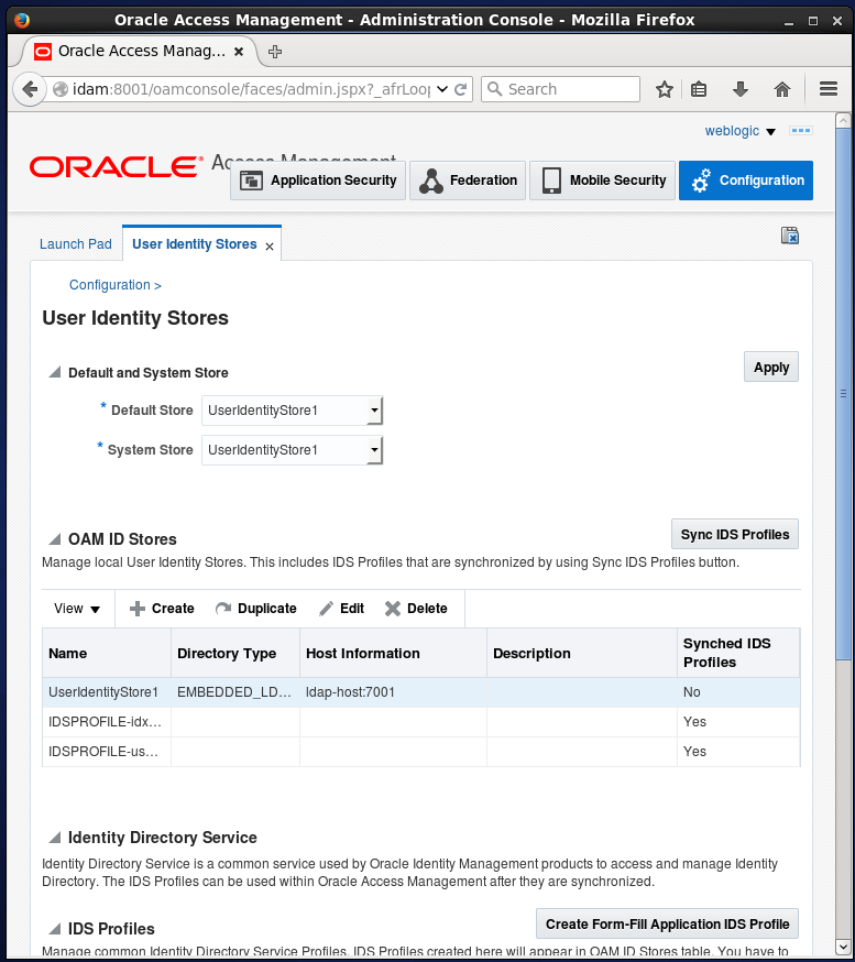 change embedded ldap server to oracle internet directory: oid user identity store
