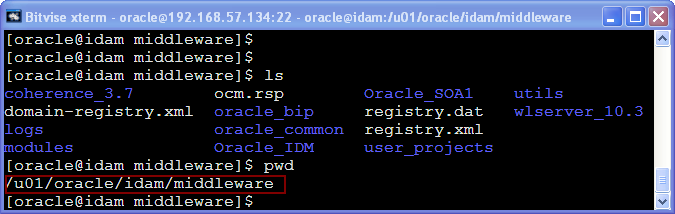 Oracle Middleware Home structure