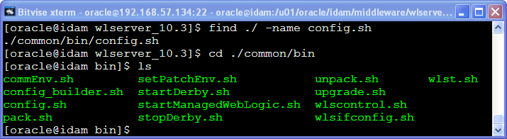 weblogic main directories & files : admin tools