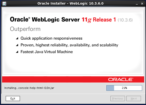 Weblogic 10.3.6 installation on linux for Oracle Internet Directory (OID) - process