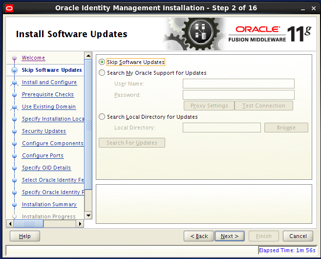 install Oracle Identity Management for OID: software updates