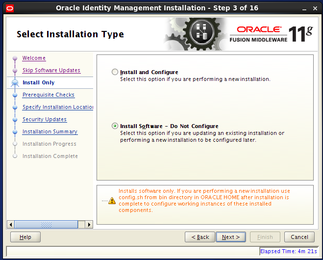 install Oracle Identity Management for OID: install only