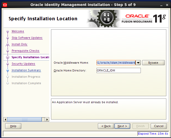 install Oracle Identity Management for OID - installation location