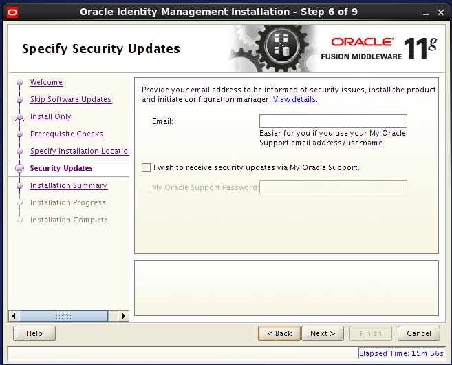 install Oracle Identity Management for OID - security updates
