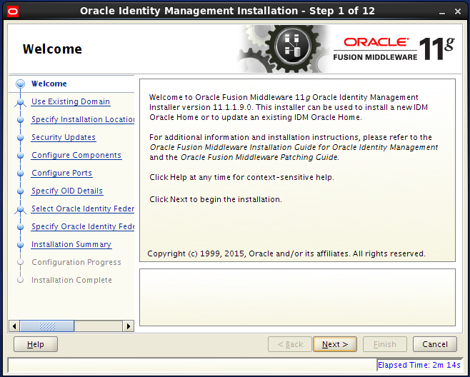 Configure Oracle Internet Directory (OID): welcome