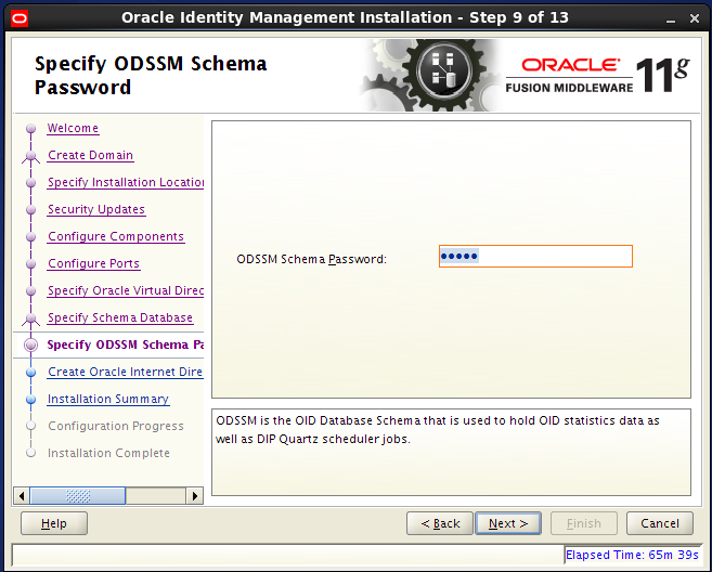 Configure Oracle Internet Directory (OID): odssm password
