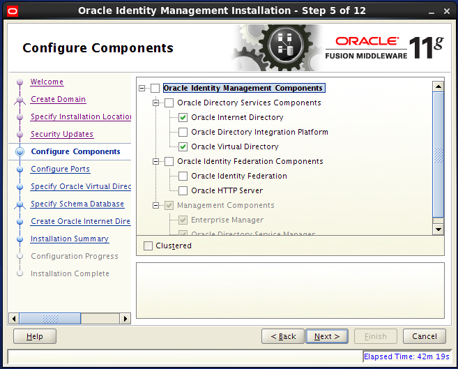 Configure Oracle Internet Directory (OID): configure components