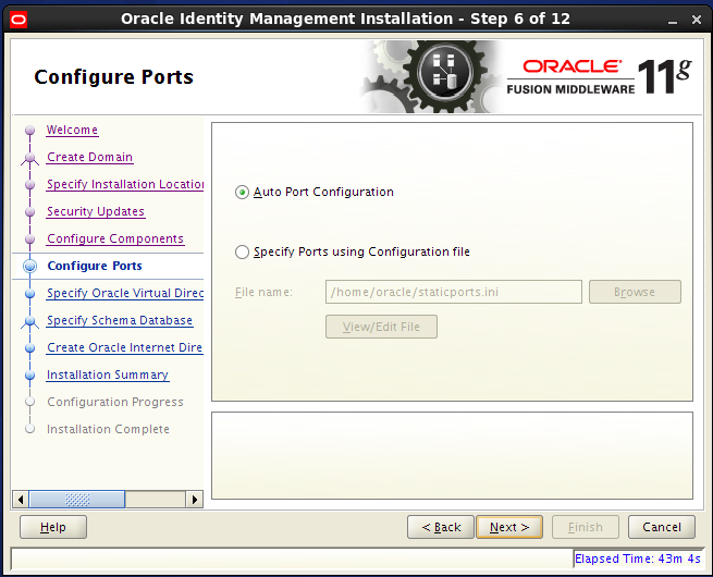 Configure Oracle Internet Directory (OID): configure ports
