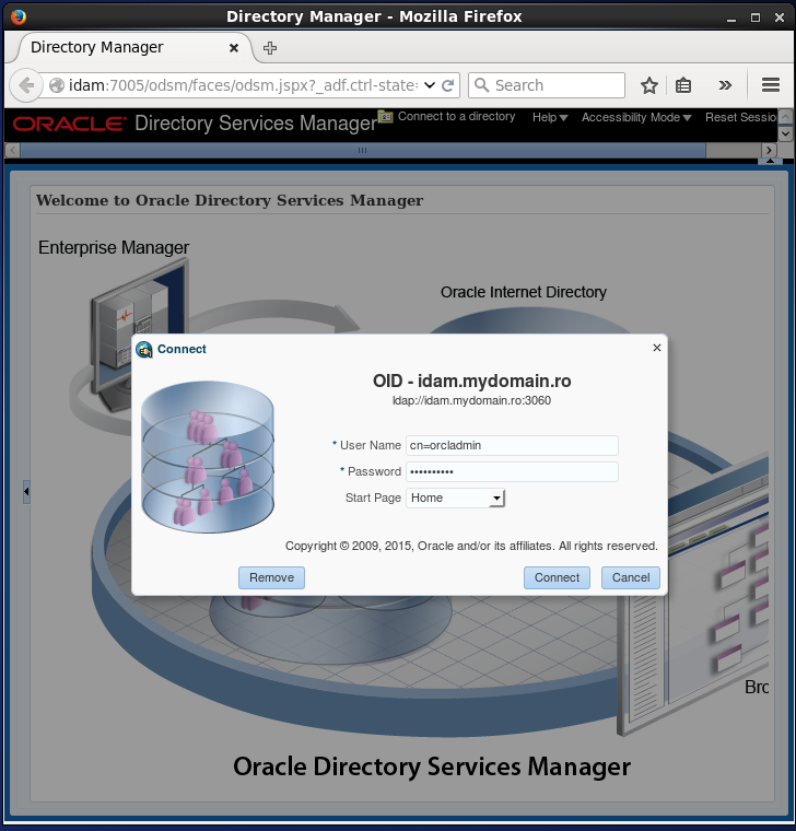 Check/ Verify your Oracle Internet Directory (OID) installation: Oracle Directory Service Manager login