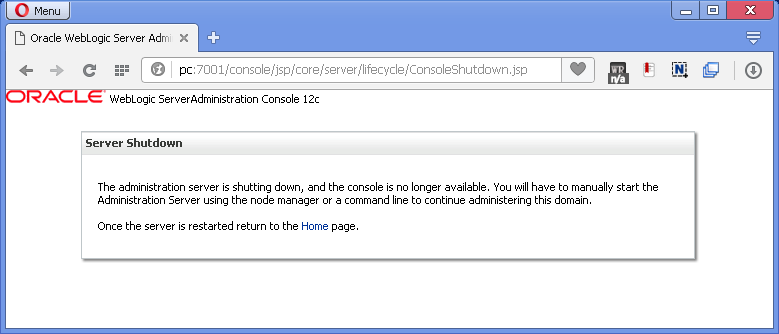 How to stop Oracle SOA 12c on Windows: admin server stopped