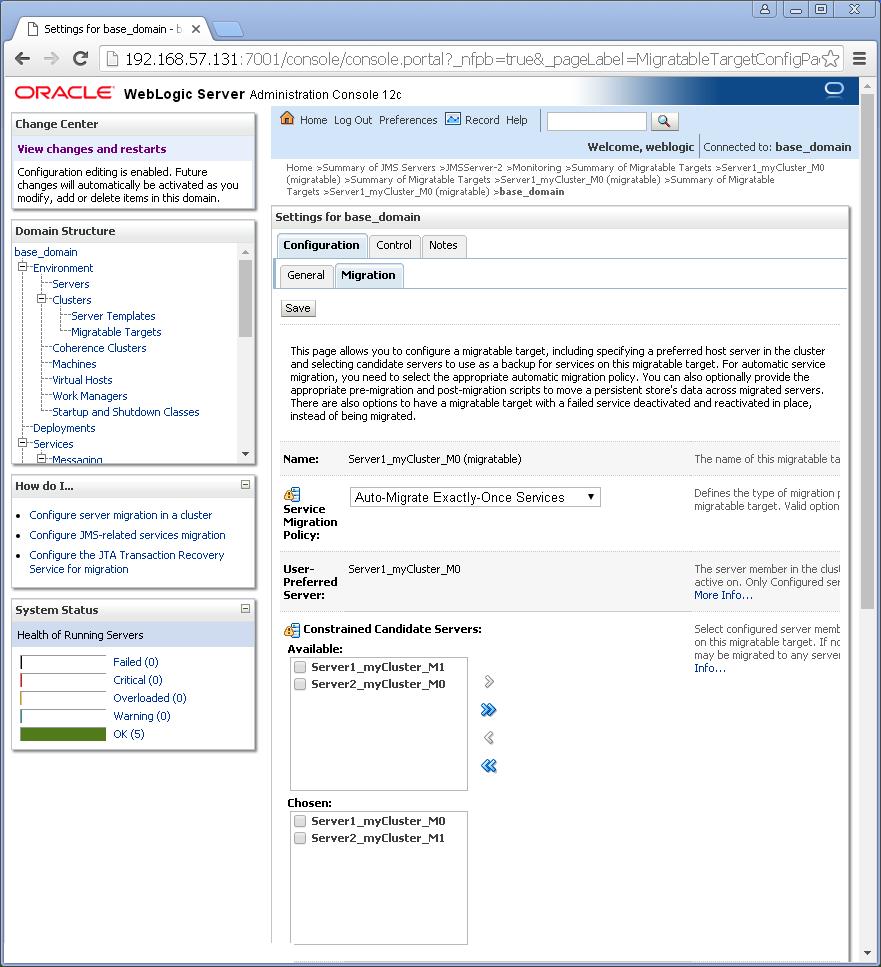 What is an oracle weblogic migratable target weblogic migratable target migration configuration baditri Images