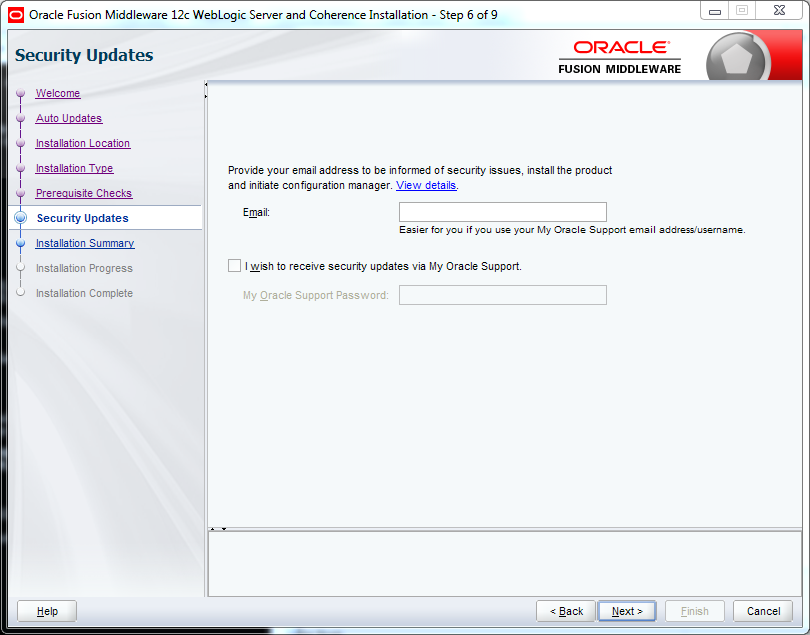 Weblogic 12.2.1 installation on Windows - updates 1