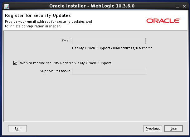 Weblogic 10.3.6 installation on linux -  updates 1
