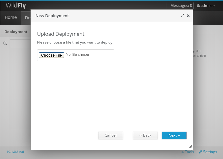 install oracle jdbc driver on WildFly 10.1 : deployments add file
